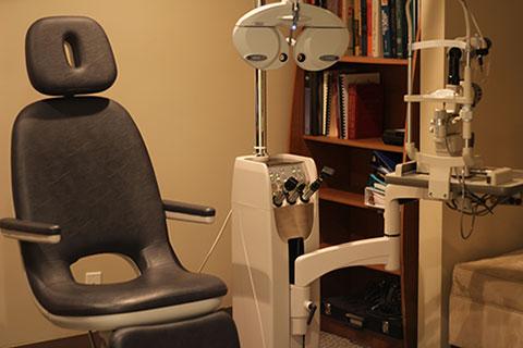 Eye exam chair